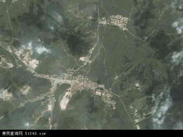 中国吉林省四平市梨树县孟家岭镇地图(卫星地图)
