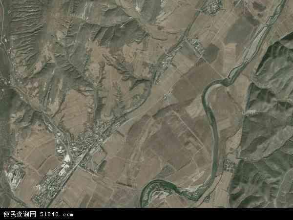 中国辽宁省朝阳市北票市南八家子乡地图(卫星地图)