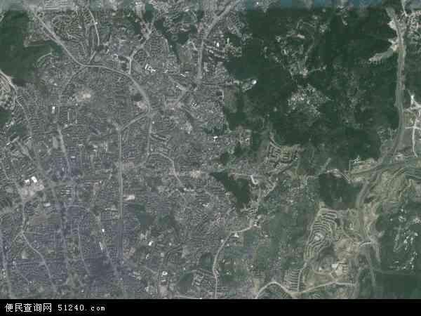 中国贵州省贵阳市云岩区黔灵镇地图(卫星地图)