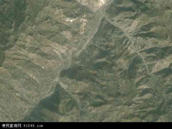 中国甘肃省陇南市礼县桥头乡地图(卫星地图)