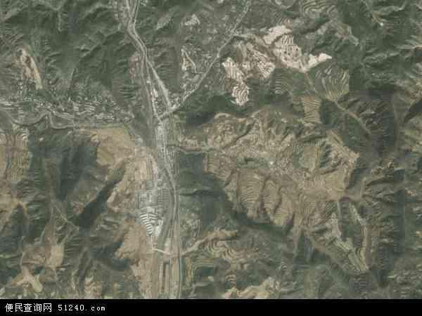 中国陕西省延安市宝塔区青化砭镇地图(卫星地图)