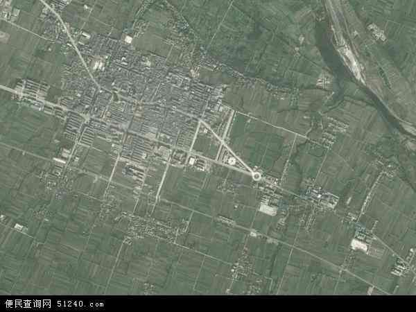 中国陕西省宝鸡市眉县首善镇地图(卫星地图)
