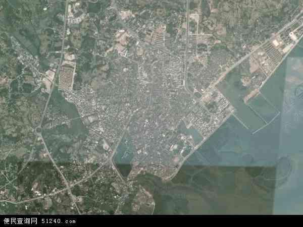 水东镇2016年卫星地图 中国广东省茂名市电白县水东镇地图图片