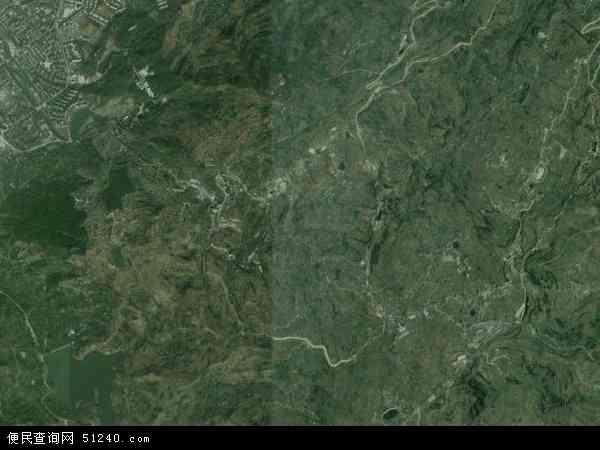 中国四川省成都市龙泉驿区山泉镇地图(卫星地图)