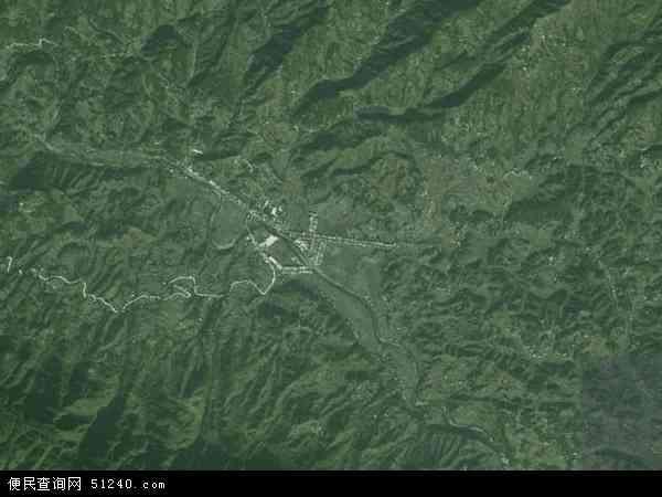 中国重庆市云阳县桑坪镇地图(卫星地图)