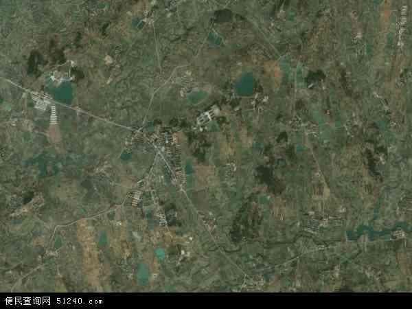 中国湖北省黄冈市麻城市铁门岗乡地图(卫星地图)