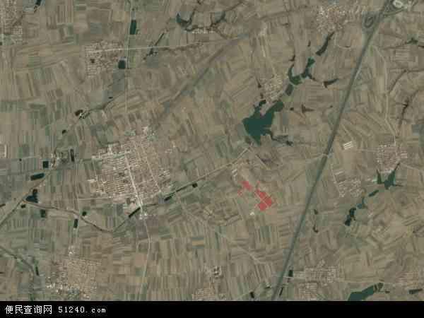 中国山东省烟台市莱阳市谭格庄镇地图(卫星地图)