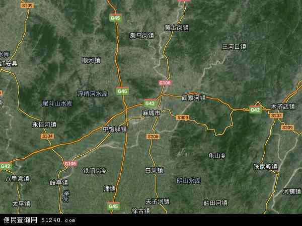 铁路生活区高清卫星地图 铁路生活区2018年卫星地图 中国湖北省黄