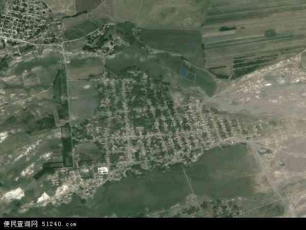中国新疆维吾尔自治区塔城地区额敏县玉什喀拉苏镇地图(卫星地图)