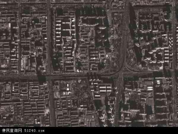 中国北京市海淀区北太平庄地图(卫星地图)