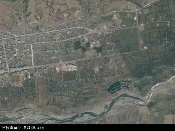 中国河南省洛阳市洛宁县城关镇地图(卫星地图)图片