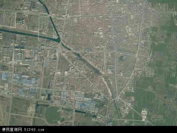 中国河南省商丘市虞城县城关镇地图(卫星地图)