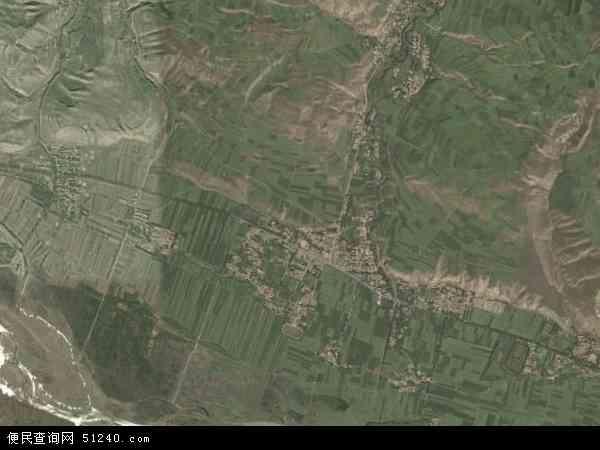 中国青海省海北藏族自治州门源回族自治县东川镇地图(卫星地图)图片