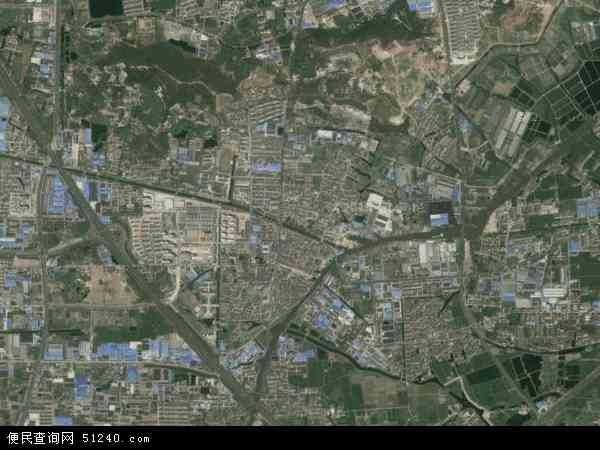 中国江苏省常州市武进区横山桥镇地图(卫星地图)