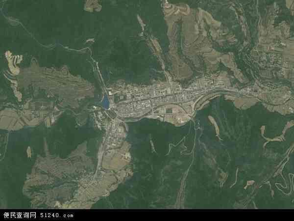 中国陕西省宝鸡市麟游县九成宫镇地图(卫星地图)