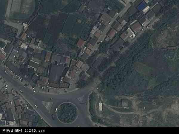 中国陕西省安康市汉滨区建民办事处地图(卫星地图)