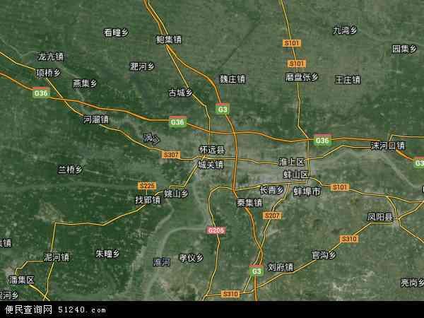 中国安徽省蚌埠市怀远县经济开发区地图(卫星地图)