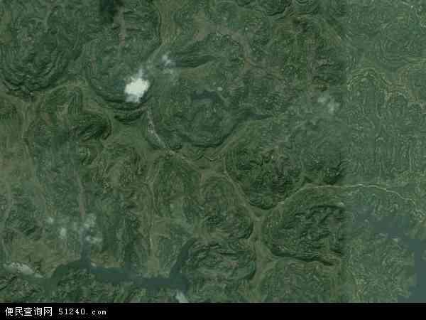 中国四川省南充市营山县青山乡地图(卫星地图)