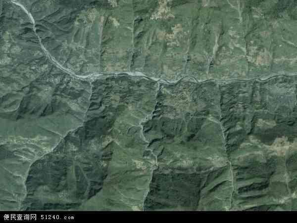 中国重庆市巫溪县天元乡地图(卫星地图)