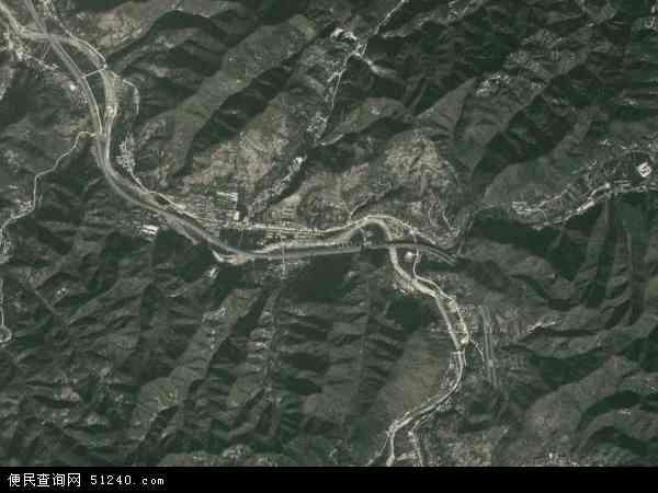 中国陕西省西安市蓝田县辋川镇地图(卫星地图)