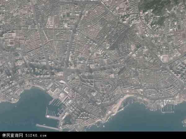 中国山东省青岛市市南区香港中路地图(卫星地图)图片