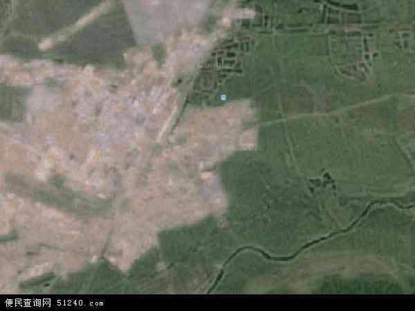 中国黑龙江省牡丹江市宁安市东京城镇地图(卫星地图)