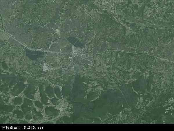 中国重庆市巫溪县上磺镇地图(卫星地图)