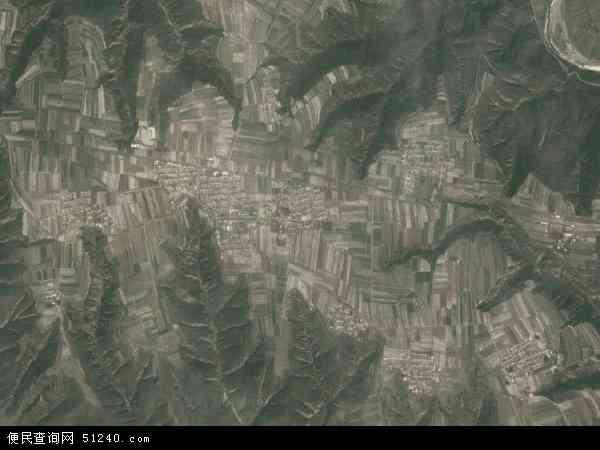 中国陕西省延安市黄陵县田庄镇地图(卫星地图)