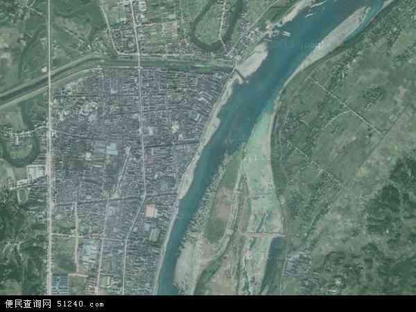 中国湖南省常德市桃源县漳江镇地图(卫星地图)
