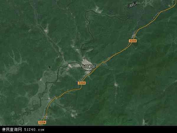 中国黑龙江省伊春市上甘岭区查山经营所地图(卫星地图)图片
