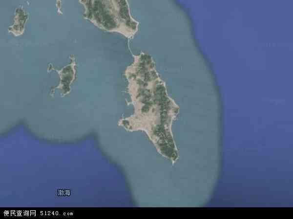 中国山东省烟台市长岛县南隍城乡地图(卫星地图)