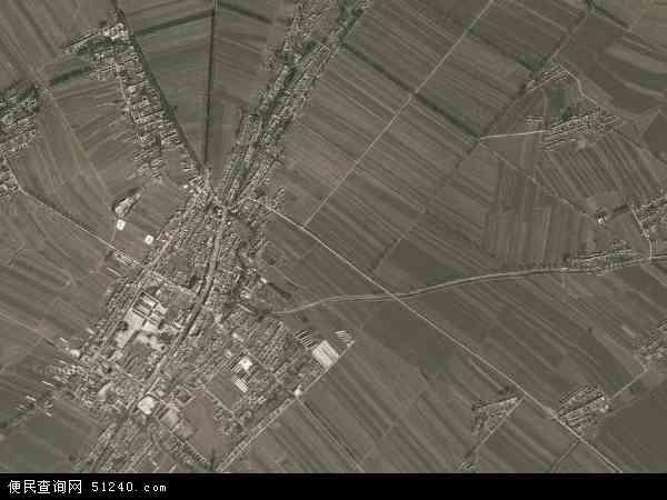 中国吉林省四平市梨树县小城子镇地图(卫星地图)