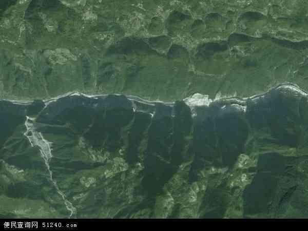 中国重庆市巫溪县中梁乡地图(卫星地图)