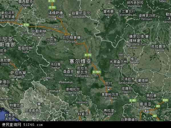 塞尔维亚卫星地图 - 塞尔维亚高清卫星地图 - 塞尔维亚高清航拍地图 - 2016年塞尔维亚高清卫星地图