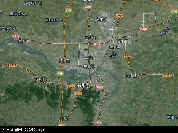 中国湖北省襄阳市樊城区高新区团山镇地图(卫星地图)