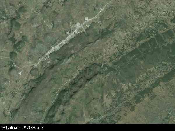 中国贵州省六盘水市水城县南开苗族彝族乡地图(卫星地图)图片