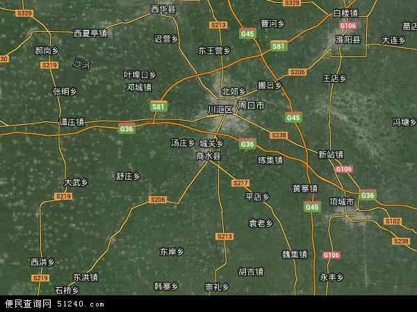 商水县农场卫星地图