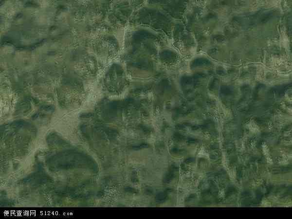 中国贵州省安顺市西秀区岩腊苗族布依族乡地图(卫星地图)