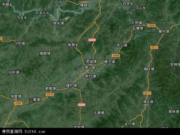国营华山农场高清航拍地图