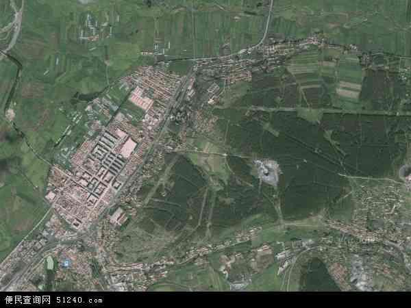 中国黑龙江省鸡西市梨树区梨树区(镇)直辖地域地图(卫星地图)