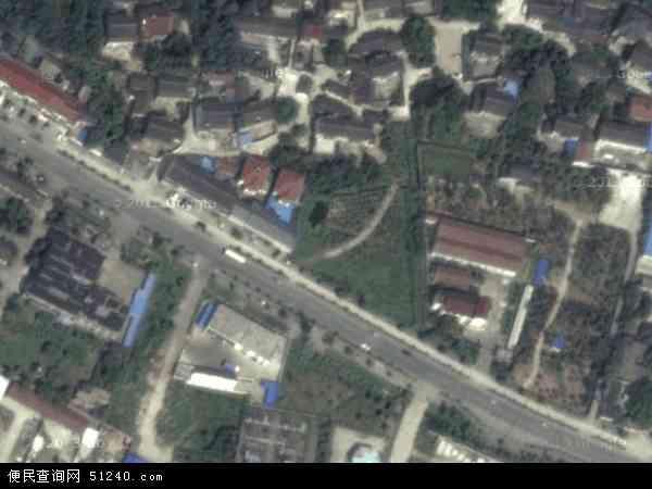 中国江苏省苏州市吴中区穹窿山风景区地图(卫星地图)