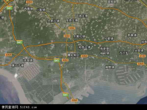 中国河北省唐山市曹妃甸区唐山湾生态城地图(卫星地图)