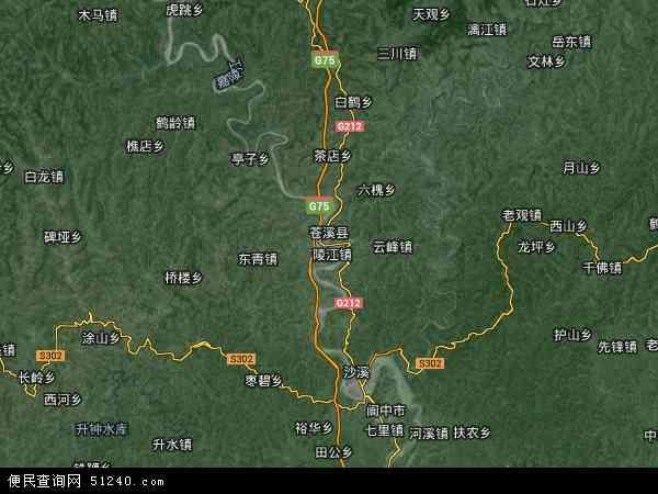 中国四川省广元市苍溪县苍溪县良种场地图(卫星地图)