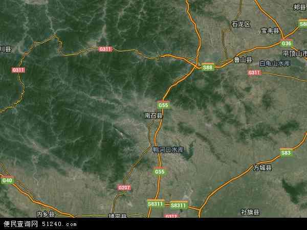中国河南省南阳市南召县国营长江机械厂地图(卫星
