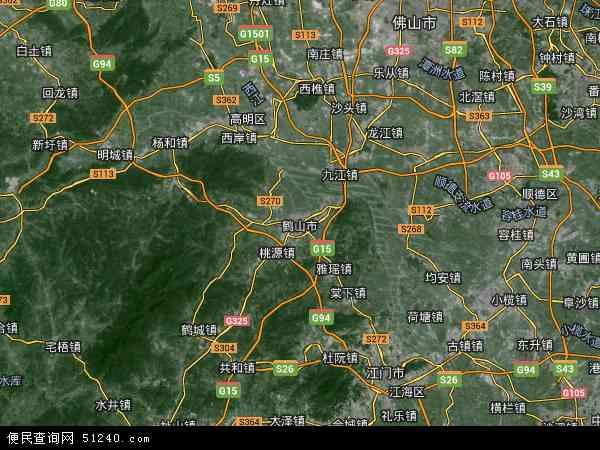 中国广东省江门市鹤山市广东省江门监狱地图(卫星地图)图片