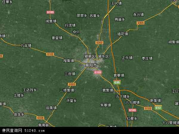 中国安徽省阜阳市颍州区阜阳合肥现代产业园区地图