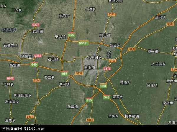 河南省南阳市卧龙区龙王沟风景区办事处地图(卫星