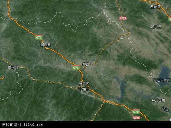 中国湖北省十堰市郧县郧县经济开发区(茶店镇)地图
