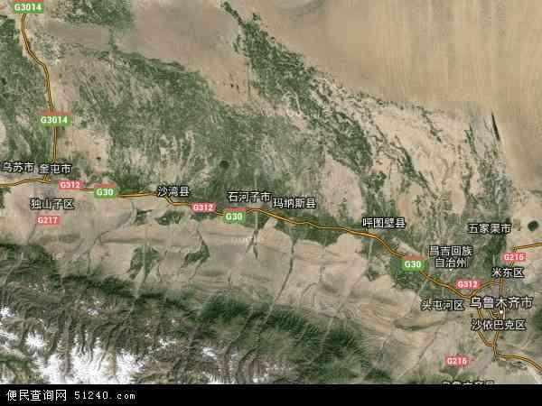 州玛纳斯县新疆农科院玛纳斯试验站地图(卫星地图)