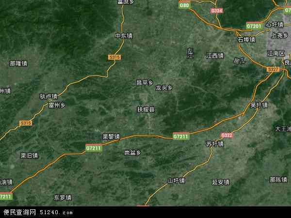 区崇左市扶绥县广西农垦国有山圩农场地图(卫星地图)图片